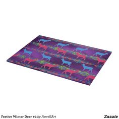 Shop Festive Winter Deer Cutting Board created by FarrellArt. Christmas Animals, Christmas Themes, Christmas Decorations, Holiday Decor, Glass Cutting Board, Cutting Boards, Picnic Blanket, Outdoor Blanket, Kitchen Themes