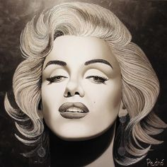 Credit: Stephane Pednò (Click to Support Artist) Marilyn Monroe Photos, Marylin Monroe, Royal Jewelry, Beauty Industry, Pop Art, The Creator, Halloween Face Makeup, Stephane, Drawings