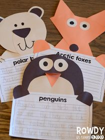 Winter writing crafts