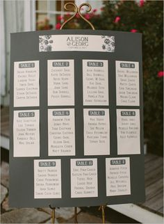 simple wedding seating chart ideas: replace with chalk board, cloths pins w/heart attached (magnet)