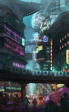 Resultado de imagem para ghost in the shell movie city