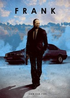 Poster made out of metal. Featuring Jason Statham as Frank Martin from the movie Transporter standing in front of a BMW We curate sketches of celebrities and famous tv personalities together with their oldtimers and classic cars. John Wick Mustang, Eden Design, Tag Design, Film Cars, Movie Cars, Frank Martin, Bmw E38, Tesla Roadster, Car Posters