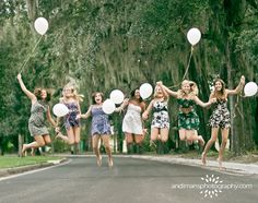 Fly away with me! set up photos booth or group shots this is what I want to do in bridesmaids dressed for a wedding