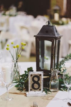 love these table numbers! photo by Brett & Jessica