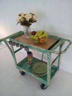 Mid Century Factory Cart. $395.00, via Etsy.