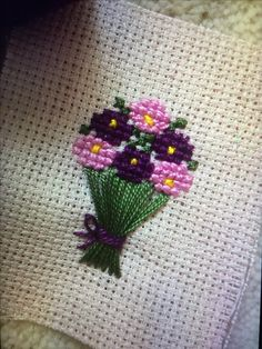Cross stitch little cottage garden Kawaii Cross Stitch, Tiny Cross Stitch, Cross Stitch Tree, Cross Stitch Bookmarks, Cross Stitch Borders, Cross Stitch Flowers, Cross Stitch Designs, Cross Stitching, Cross Stitch Patterns