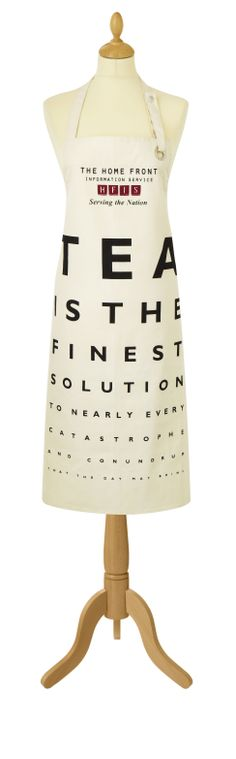 Roderick Field Tea Apron Who can read the bottom line??? #eyetest