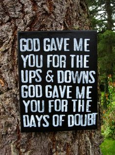 "Get this in time for Christmas - Just one left that is 20% off READY TO SHIP chalkboard style 11x14 canvas -  ""God gave me you""  Blake Shelton  by Houseof3, $28.00"