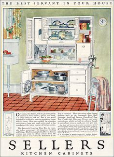 1923 Sellers Cabinet by American Vintage Home, via Flickr - my parents had one