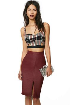 Addiction Faux Leather Skirt