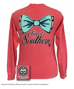 0c0248a3c Girlie Girl Originals Keep It Southern Big Bow Comfort Colors Long Sleeve T  Shirt