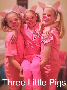cute halloween costume three little pigs - Halloween Costumes Three Girls