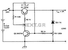 Ni-cad discharge limiter - schematic