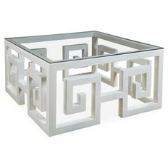 Superb Check Out This Item At One Kings Lane! Greek Key Coffee Table, White