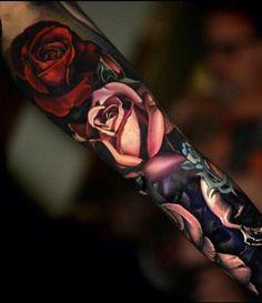 Beautiful realistic rose tattoo