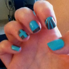 Tape nail designs.