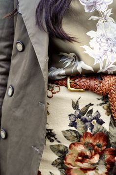 floral + fatigue + leather