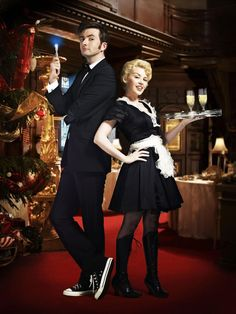PHOTO OF THE DAY - 18th December 2016:   David Tennant & Kylie Minogue in Doctor Who - The Voyage Of The Damned (2007)