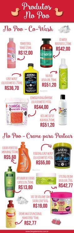 Produtos No Poo - Blog da Mimis - Lista com os TOP produtos especiais para o tratamento capilar no poo! #nopoo #sulfato #cowash #hair #cabelos #cachos #oleosidade #crespos #curl