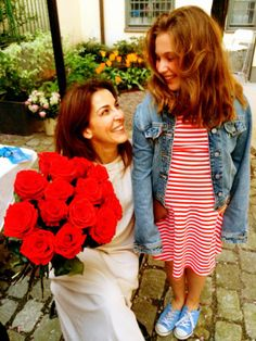Mor och dotter på vårt 10:års Jubileum. Trés belles