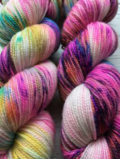 indie dyed yarn hand dyed yarn I Do What I Want pink purple blue yellow green sparkle speckled ready to ship merino sock yarn by CrochetTheWinter on Etsy https://www.etsy.com/listing/478174943/indie-dyed-yarn-hand-dyed-yarn-i-do-what