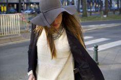 "Berenice: Blogger Sacha Farber wearing our SMOKING JACKET ""blanc3"".  #fashion #blazer #mode"