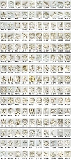 Best 12 Graphic Design – Pattern Design – KS Stamps in Clay – A great assortment of tools for jewelry, PMC or any other cr… Pattern Design : – Picture : – Description KS Stamps in Clay – A great assortment of tools for jewelry, PMC or any other c Ceramic Tools, Ceramic Clay, Ceramic Pottery, Clay Clay, Ceramic Texture, Clay Texture, Clay Stamps, Polymer Clay Tools, Polymer Clay Jewelry