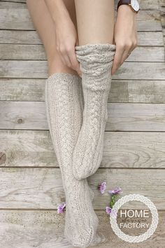 GRATIS verzending Kerstmis kousen merino wol knie sokken