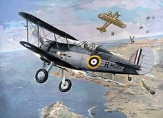 Gloster Sea Gladiator Mk. 1 in action with Italians over Malta
