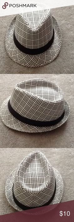 3f33f11c52a Fedora Tan and white with black band fedora hat. New. Never worn. For