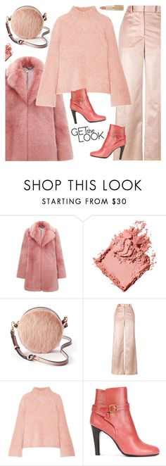 """Monochrome Dusty Pink"" by sproetje ❤ liked on Polyvore featuring Whistles, Bobbi Brown Cosmetics, LC Lauren Conrad, ADAM, Ulla Johnson, Michel Vivien, L'Oréal Paris, GetTheLook, ootd and contestentry"