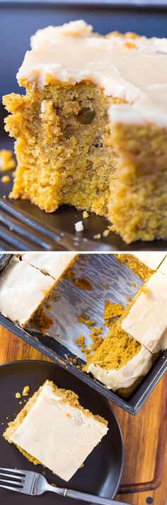 Brown Butter Pumpkin Snack Cake with Crackle Icing: THE BEST EVER pumpkin cake, and SO easy! Plus, the baking trick you MUST try this fall!