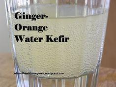 Ginger-Orange Water Kefir