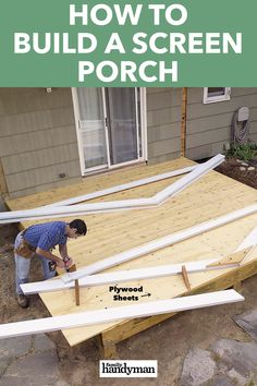 How to Build a Screen Porch