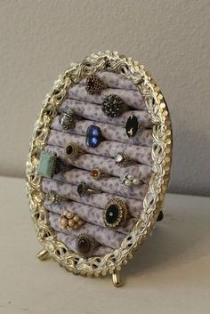 Standing Ring Holder Metal Standing Ring Organizer Jewelry