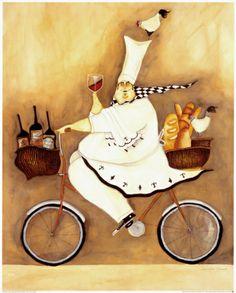 Chef To Go Print by Jennifer Garant at Art.com