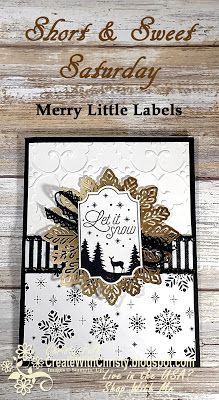 Complete instructions included in the post - Short & Sweet Saturday - Stampin' Up! Merry Little Labels handmade Christmas card - Foil Snowflakes - S&SS - Create With Christy - Christy Fulk, Independent SU! Demo