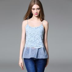 Shop oriental blue floral lace sun-top. Find latest oriental fashion products from idreammart.com.