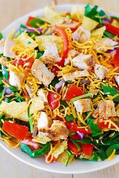 Chicken taco salad recipe by JuliasAlbum.com, via Flickr