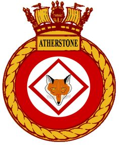 HMS Atherstone (M38) patch Navy Badges, Military Cap, Naval, Emblem, Navy Ships, Crests, Royal Navy, Battleship, Coat Of Arms