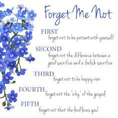 forget me not...@Rachel Ledford