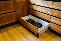 Stunning Japanese, timber kitchen. Integrated kickboard drawer. www.thekitchendesigncentre.com.au @thekitchen_designcentre