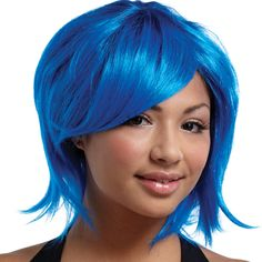 blue wig | Costume Store - Sweetshag Royal Blue Wig : Costume Wigs