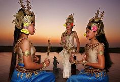 """Apsara Dance: Apsaras were celestial virgins dating back to the times of the Kingdom of Angkor who danced only for the Gods to encourage rain, good crops, prosperity and protection for the Khmer kingdom."" [Cambodia] -- Photo by Tracey Shelton."