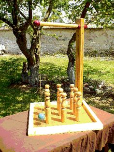 Wow, remember this? Diy Yard Games, Backyard Games, Outdoor Games, Bar Games, Table Games, Woodworking Toys, Woodworking Projects, Wood Games, Garden Games