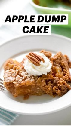 Summer Desserts, Easy Desserts, Delicious Desserts, Yummy Food, Apple Recipes, Fall Recipes, Yummy Recipes, Apple Dump Cakes, Beauty Tricks