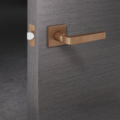 door hardware lever handle set stunning matt copper bronze shade on grey || Chipperfield | FSB | David Chipperfield. Check it out on Architonic