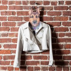 This German Shepherd guard dog hanger will stare down the sibling who always steals your clothes.