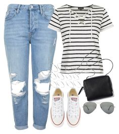 """""""Untitled #621"""" by rguelsah ❤ liked on Polyvore featuring Topshop, Converse, ASOS and Ray-Ban"""