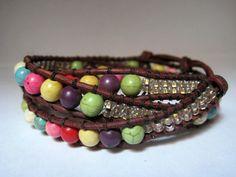 Beaded Leather Wrap Bracelet Chan Luu by CristinaDavisJewelry, $35.00
